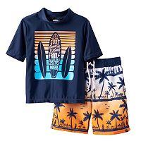 Toddler Boy OshKosh B'gosh® Surf Rashguard & Swim Trunks Set
