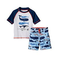 Baby Boy OshKosh B'gosh® Whale Rashguard & Swim Trunks Set