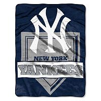 New York Yankees Home Plate Raschel Throw by Northwest