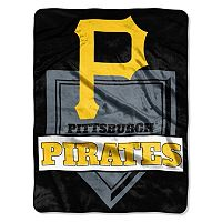 Pittsburgh Pirates Home Plate Raschel Throw by Northwest