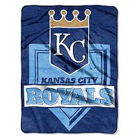 Kansas City Royals Home Plate Raschel Throw by Northwest