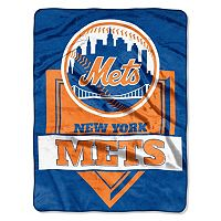 New York Mets Home Plate Raschel Throw by Northwest