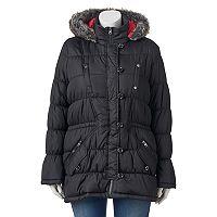 Juniors' Plus Size Urban Republic Hooded Puffy Anorak Jacket
