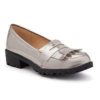 NYLA Women's Metallic Penny Loafers