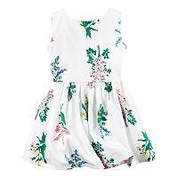 Toddler Girl Carter's White Floral Sateen Dress