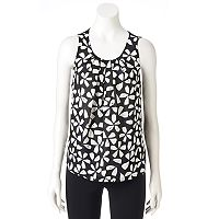 Women's ELLE™ Pleated Scoopneck Tank