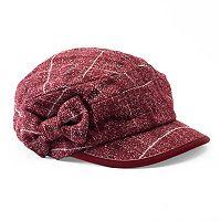 Women's Betmar Mulhouse Plaid Bow Cadet Hat