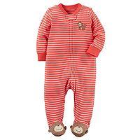 Baby Boy Carter's Embroidered Animal Striped Sleep & Play