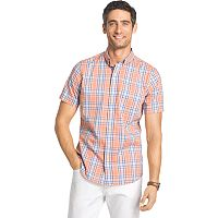 Big & Tall IZOD Advantage Classic-Fit Plaid Stretch Button-Down Shirt