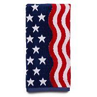 Americana Wavy Flag Hand Towel
