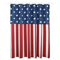 Americana Flags Shower Curtain