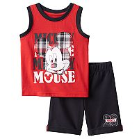 Disney's Mickey Mouse Baby Boy Graphic Tank & French Terry Shorts Set