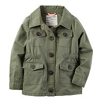 Baby Girl Carter's Olive Military Jacket