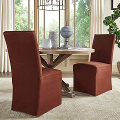 HomeVance Grace Hill Parson Slipcover Dining Chair 2-piece Set by