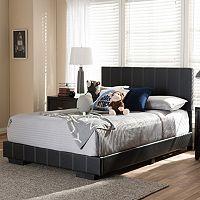 Baxton Studio Atlas Faux Leather Full Platform Bed