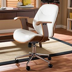 Baxton Studio Rathburn Faux Leather Office Chair by