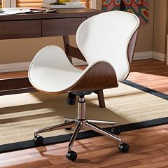 Baxton Studio Bruce Faux Leather Office Chair by