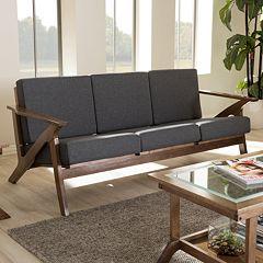 Baxton Studio Cayla Mid-Century Modern Sofa by