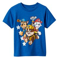 Toddler Boy Paw Patrol Chase, Rubble & Marshall Royal Blue Graphic Tee