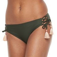 Mix and Match Lace-Up Scoop Bikini Bottoms