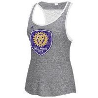 Women's adidas Orlando City SC Pearl Logo Lace Back Tank Top