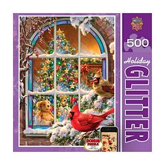 Home for the Holidays 500-pc. Holiday Glitter Puzzle by MasterpiecesPuzzles by