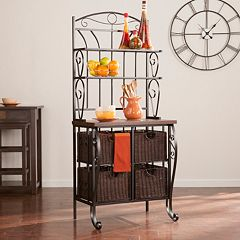 Hartman Bakers Rack with Storage Baskets by