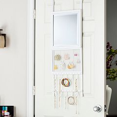 Karisse Over-the-Door Jewelry Storage & Mirror by
