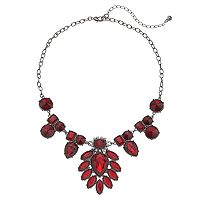Simulated Crystal Statement Necklace
