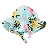 Baby Girl Carter's Floral Pom-Trim Sun Hat
