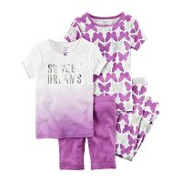 Toddler Girl Carter's Butterfly 4-pc. Pajama Set