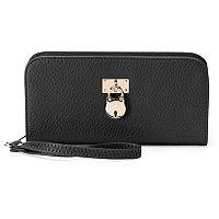 Deluxity Lani Padlock Zip Around Wallet
