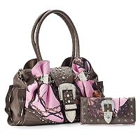 Mossy Oak Taylor Pink Camouflage Tote with Wallet