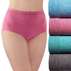 Plus Size Fruit of the Loom Fit for Me 4-pack Ultra Soft Briefs 4DUSKBP