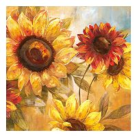 Sunflower Cheer Square Canvas Wall Art