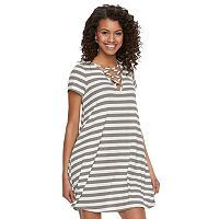 Juniors' Love, Fire Crisscross Swing Dress