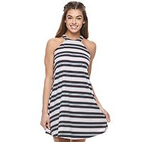 Juniors' Love Fire Halter Ribbed Dress