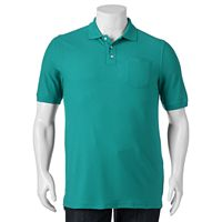 Big & Tall Croft & Barrow® Performance Pocket Pique Polo