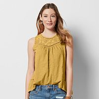 Women's SONOMA Goods for Life™ Split-Back Eyelet Top