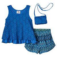 Girls 4-6x Knitworks Crochet Tank Top & Printed Shorts Set