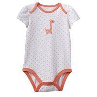 Baby Girl Jumping Beans® Embroidered Giraffe Polka-Dot Bodysuit