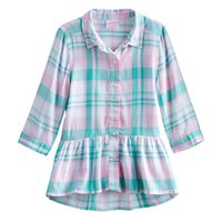 Girls 4-10 Jumping Beans® Patterned Tunic Top