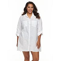 Plus Size Apt. 9® Roll-Tab Slubbed Cover-Up