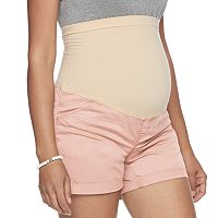 Maternity a:glow Belly Panel Twill Shorts