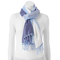 Apt. 9® Dip-Dyed Crocheted Oblong Scarf