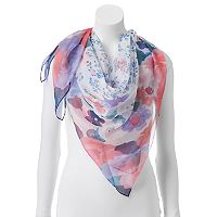 Apt. 9® Watercolor Floral Square Scarf