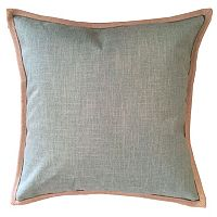 Linen Trim Throw Pillow