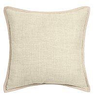 Linen Trim Throw Pillow