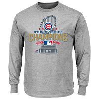Men's Majestic Chicago Cubs 2016 World Series Champions Locker Room Tee
