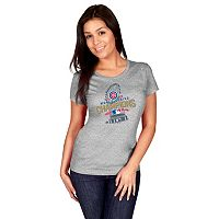 Women's Majestic Chicago Cubs 2016 World Series Champions Locker Room Tee